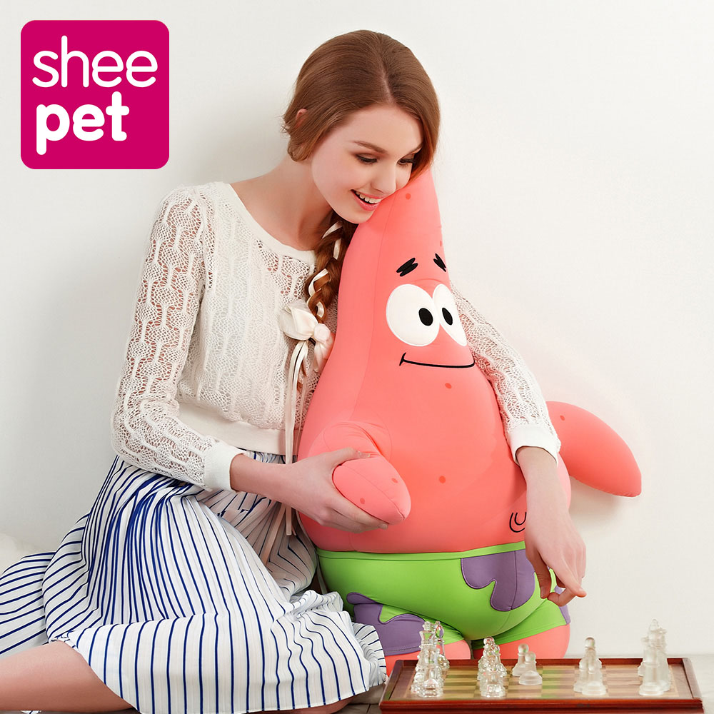 Sheepet Large 76cm Patrick Star Plush Doll Toy Particle Cartoon Animal Doll Toy Stuffed and Plush Toys for Kids Gift stuffed animal 44 cm plush standing cow toy simulation dairy cattle doll great gift w501
