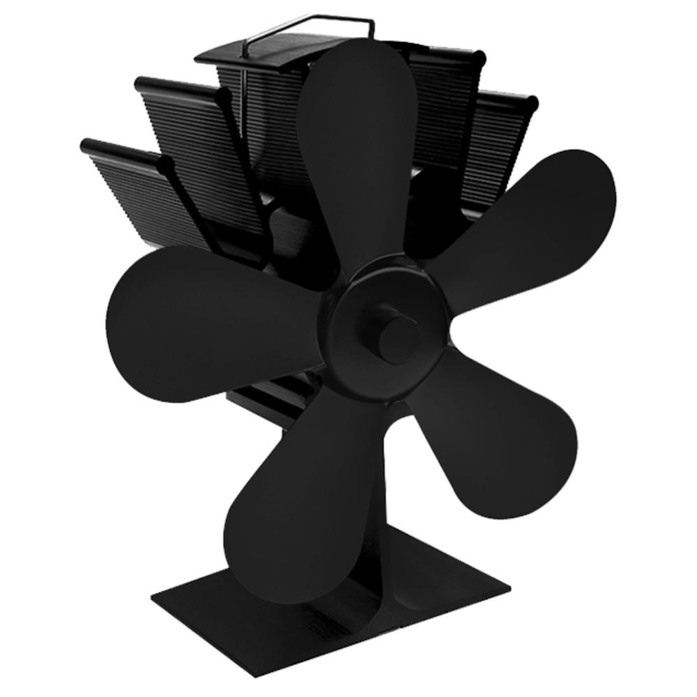 Large Airflow 5 Blades Heat Powered Gas Wood Log Burner Home Fireplace Stove Fan