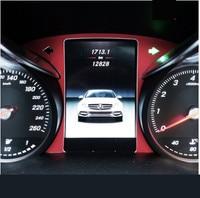 Car Driving computer screen computer panel dashboard Trim frame sticker For Mercedes Benz 2015 2017 W205 C class GLC class
