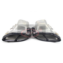 цена на car exhaust pipe modified tail laryngeal black Double hole exhaust for 14-16 year Mercedes Benz W212 E200L E260L E300L E350L