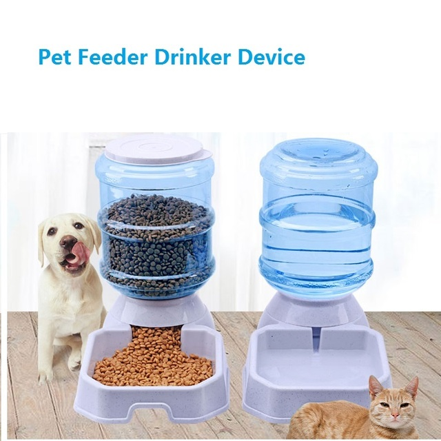 3.8L Pet Dog Cat Automatic Feeder Drinking Pet Food Water Bowl For Dog Automatic Drinkers Feeder Pet Dog Supplies Free Shipping 1