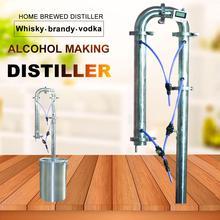 Новое оборудование для пивоварения семьи дистиллятор коньяк фляжка moonshine вино пиво пивоварения инструменты одиночные продажи дистилляционная башня