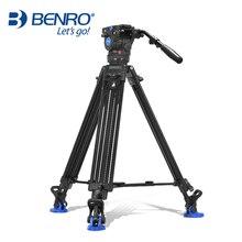 Benro BV6 Professional Camera Tripod Quick Release Plate Single Handle Hydraulic Damper Head Suit Tripe Tripodes Accessories