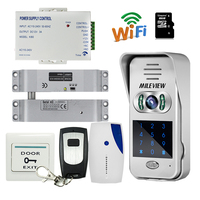 Free Shipping Code Keypad Unlock Wireless Wifi IP Doorbell Video Intercom For Android Phone Electric Drop