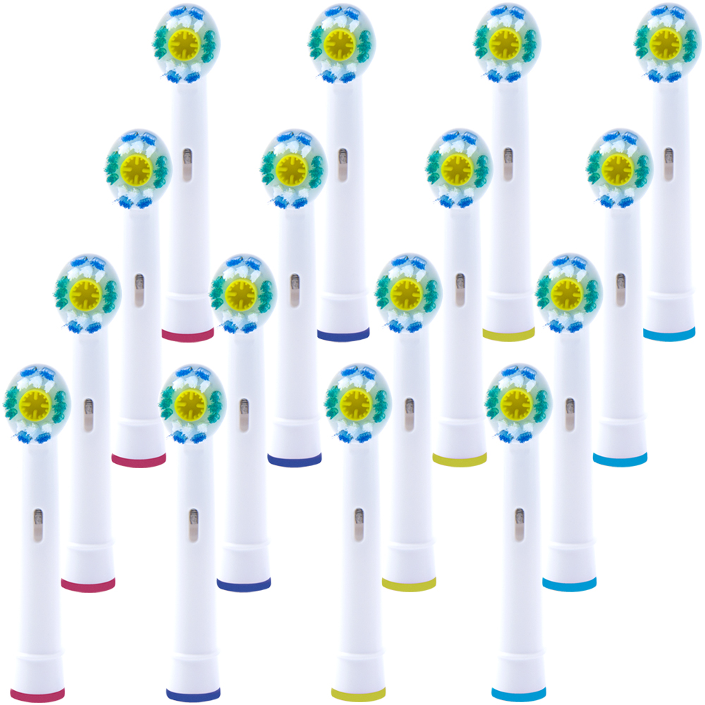 16 PCS Replacement 3D Toothbrush Heads for Oral b Toothbrush Heads Compatible with The Entire Lineup of Oral B Toothbrush in Replacement Toothbrush Heads from Home Appliances