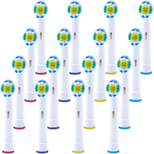 16 PCS Replacement 3D White Toothbrush Heads for Oral b Toothbrush Heads Compatible with The Entire Lineup of Oral-B Toothbrush 12 pcs 3d pro white toothbrush heads for oral b toothbrush heads braun oral b brush heads compatible with oral b toothbrush