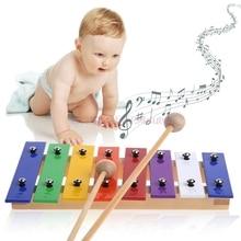 Glockenspiel Musical Instrument Music Toy 8 Notes Wooden Children Kid #H055#