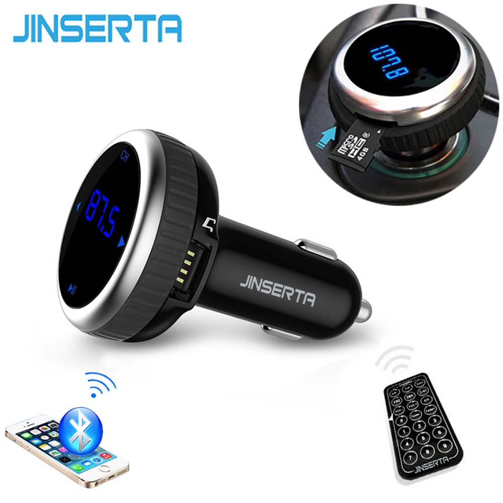 Prix pour Voiture MP3 Audio Lecteur Bluetooth Transmetteur FM Avec Télécommande sans fil Modulateur FM De Voiture Kit Mains Libres LCD Écran w/TF Slot