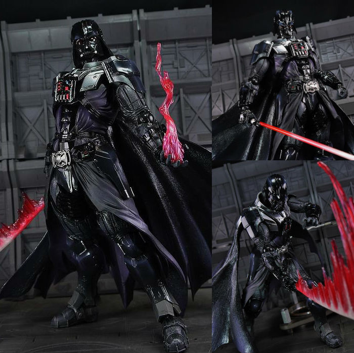 все цены на Star Wars Action Figure Playarts Kai Darth Vader Toys Collection Model PVC 26cm Star Wars Vader Play arts Kai онлайн