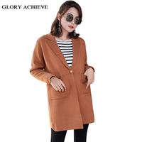 Cardigan Sweater For Women 2018 Autumn Casual Solid Long Sleeve Women Sweaters Long Cardigan Coat with Pocket