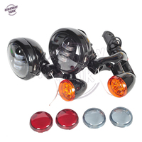 Motorcycle Accessories Turn Signal LED Spotlight Fog Light Bracket case for Harley Road King FLHX FLHXXX