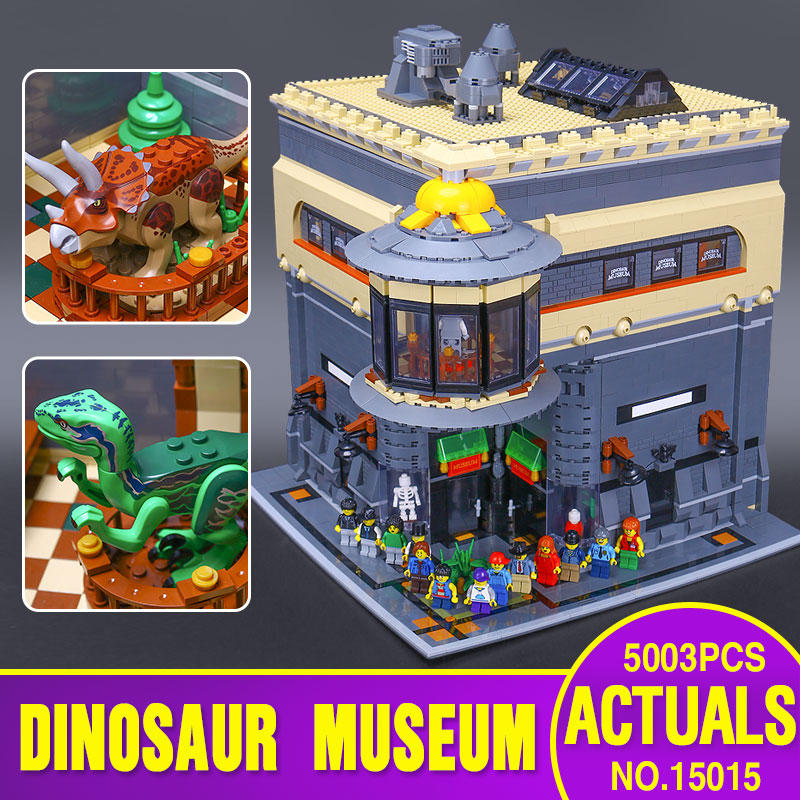 2017 New LEPIN 15015 5003pcs City The dinosaur museum Model Educational Building Kits Brick Toy Compatible Toys Gift