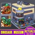 2017 Nueva LEPIN 15015 5003 unids City Creator El museo de dinosaurios Regalo Juguetes Educativos Modelo Kits de Construcción de Juguete Ladrillo Compatible