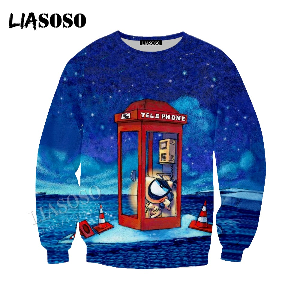 LIASOSO new knife knife dog Hat coat neutral casual pullover long-sleeved simple 3D printing comic sweatshirt CX036