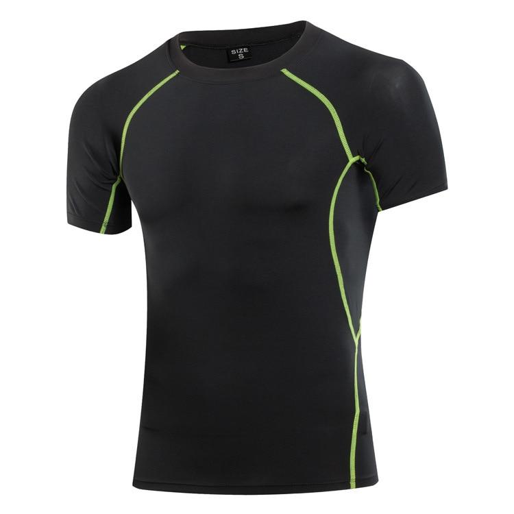 2018 New Men Compression Tight Fitness Basketball Jersey Gym Training Running Sportswear Short Sleeve YogaT Shirt