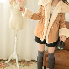 Womens Winter Mid Length Thick Warm Faux Lamb Wool Lined Jacket Coat NEW