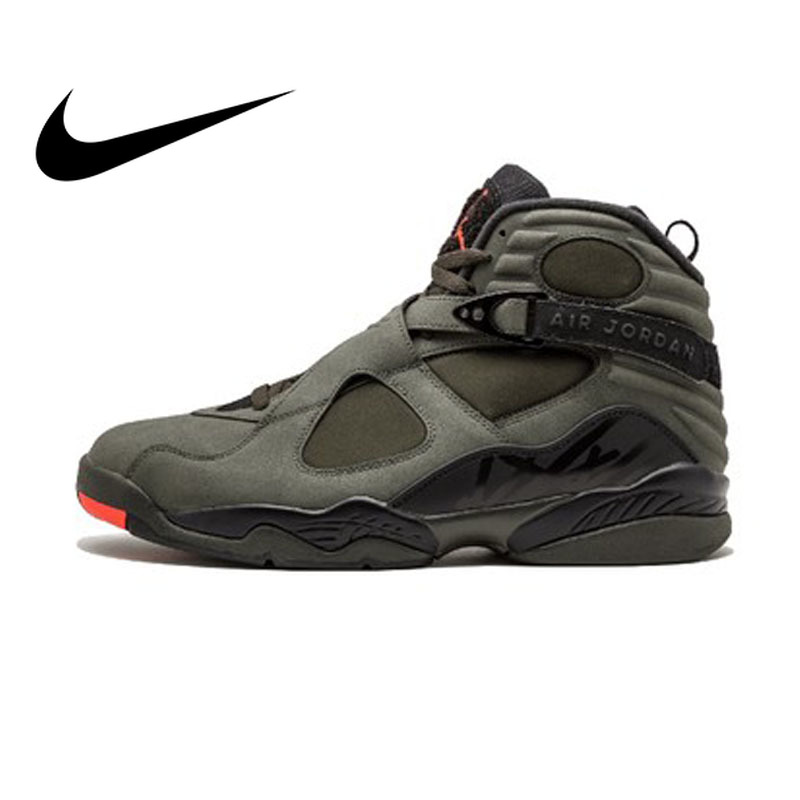 Original Authentic NIKE FLIGHT Air Jordan 8 Retro Take Flight Mens Basketball Shoes Sneakers Breathable Sport Outdoor 305381Original Authentic NIKE FLIGHT Air Jordan 8 Retro Take Flight Mens Basketball Shoes Sneakers Breathable Sport Outdoor 305381