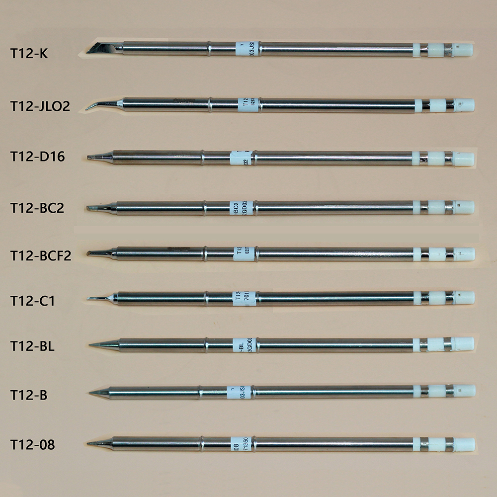 9pcs/lot T12 Series Soldering Solder Iron Tips T12 Iron Tip For Hakko Soldering Rework Station FX-951 FX-952 Soldering Iron Tips hakko fx 888d safe soldering station soldering iron esd safe 220v