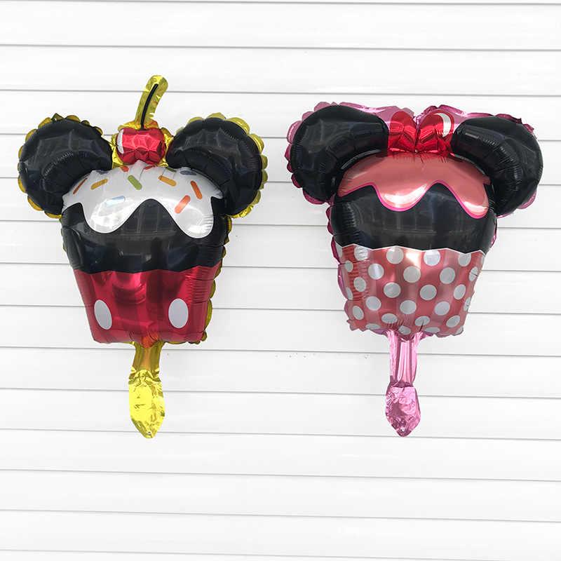 1 ชิ้น 46X35 เซนติเมตร Mini Minnie Mickey mouse อลูมิเนียมบอลลูนปาร์ตี้วันเกิดเด็กอุปกรณ์ตกแต่งของเล่นเด็กบอลลูนอากาศ