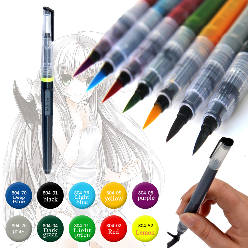 Painting supplies calligraphy pen colors portable soft