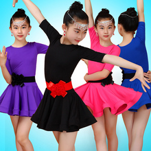 Children's Latin Dance Dress Girls Latin Ballroom Costumes Salsa Fringe Dance Dress Chacha Tango Samba Dance Costume Safety Pant