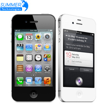 "Original Unlocked Apple iphone 4S Cell phones 3.5"" Retina IPS 16GB ROM Mobile Phone 8MP 1080P WCDMA GPS IOS Mobile Phone"