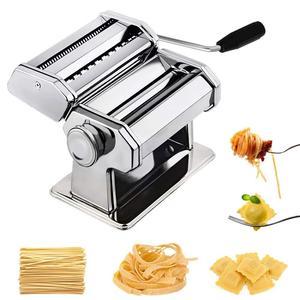 Image 2 - Машина для изготовления лапши, пасты из нержавеющей стали, машина для изготовления лазаньей, резки, Равиоли, вареников, машина с двумя резаками