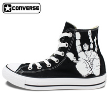 Men Women Converse All Star Skull Roses Custom Original Design Hand Painted Shoes Woman Man Sneaker Birthday Gifts