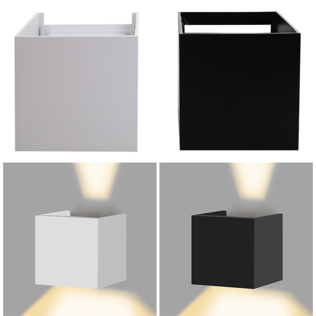 7w outdoor led wall lamp ip67 surface mounted outdoor cube wall light super bright wedge base - Outdoor Surface Mount Light