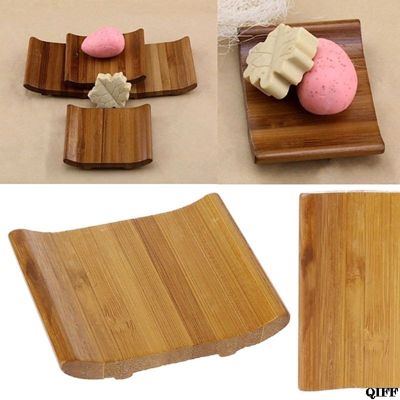 Nutural Bamboo Soap Holder Dish Tray Stylish Vintage Storage Teacup Mat For Home Bathroom Kitchen Jun14