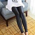 Искусственной Кожи Леггинсы для Женщин Sexy Ladies Большой Размер Legging Брюки Брюк Супер Эластичный Стрейч Узкие Брюки Jeggings