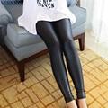 2017 Искусственной Кожи Леггинсы для Женщин Sexy Ladies Большой Размер Legging Брюки Брюк Супер Эластичный Стрейч Узкие Брюки Jeggings