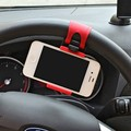 Volante Del Coche Universal Del Sostenedor Del Teléfono Para Coches de Plástico de Calidad Soporte Para Teléfonos móviles GPS Soporte de Montaje Retráctil Bracke