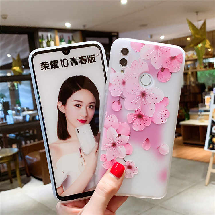 Cool lovely Case For Huawei P smart 2019 Honor 10 lite Soft TPU Silicone Back Cover For Honor 8C 8S 8X 8 9 10 20 lite Phone Case