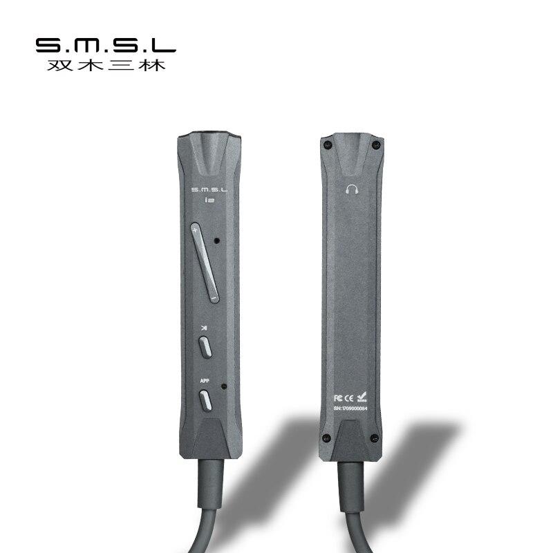 SMSL I2 Hifi Mini Foudre DAC Amp pour iOS Iphone Portable Décodeur Amplificateur Casque Microphone Intégré Foudre connecteur