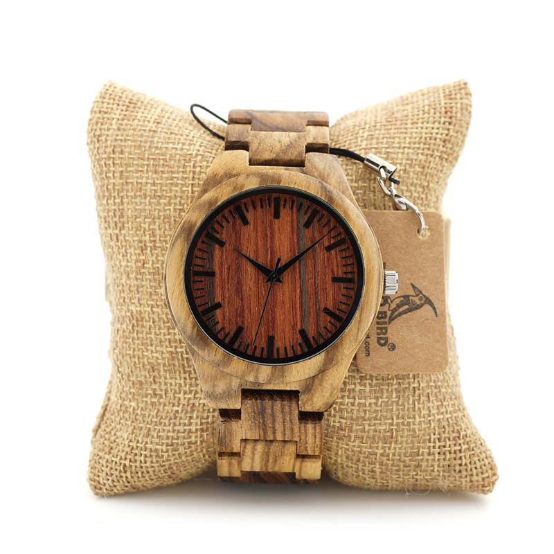 2017 BOBO BIRD Watch Men Brand Handmade Wood Watches Luxury Wooden Band Casual Wristwatches relogio masculino C-K27
