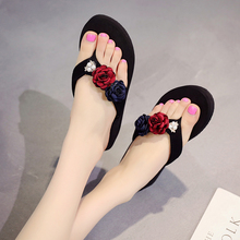 Women Flip Flops Shoes Slippers 2019 Summer Outside Sandals Mujer Beach Flats Slides Casual Flowers Sandals vtota women sandals 2017 flip flops flats shoes sandals woman rhinestone casual sandalias mujer ladies beach summer shoes a6