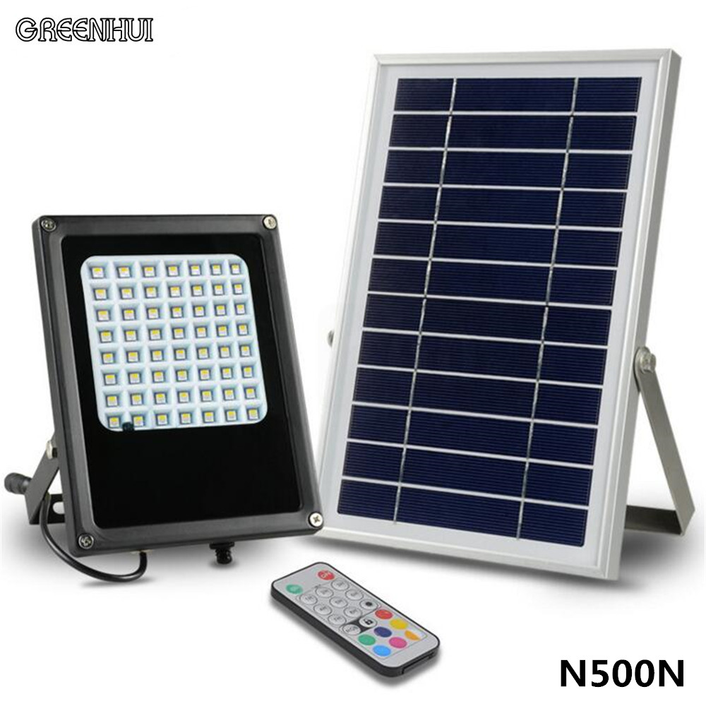 1pc waterproof Solar Floodlight 56 LED RGBWW Spotlight Focused Solar LED Flag Light For Outdoor Garden Light Landscape Spotlight