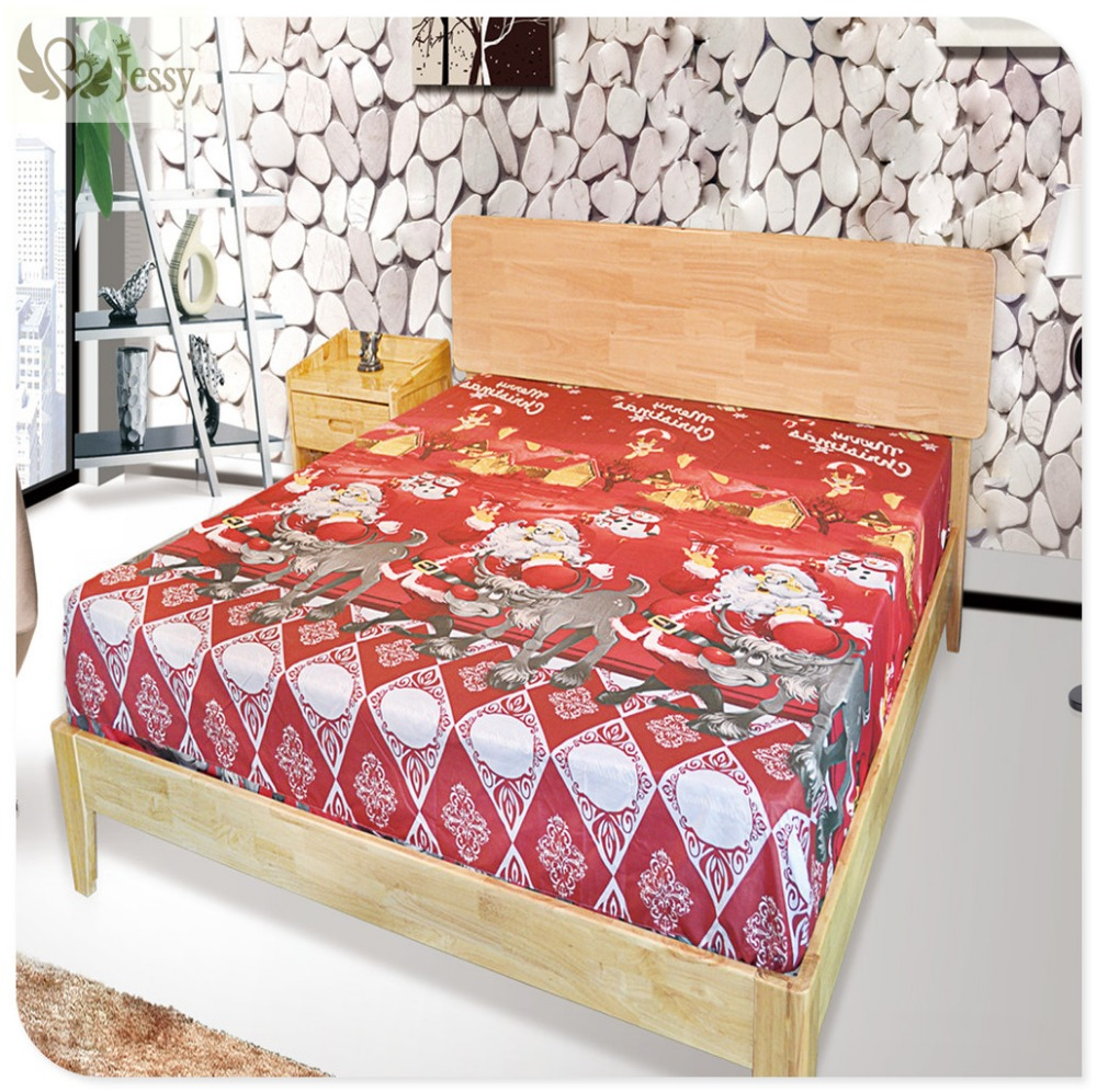 JESSY HOME 3D Christmas Bedding Sets For Children Bed Linens With Fitted  Sheet Bed Sheets Kids Christmas Gift Bedding Set