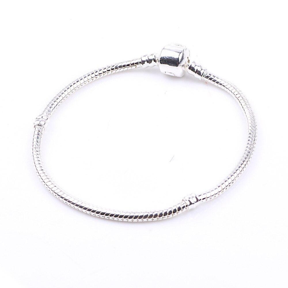 Dodocharms Antik Silber Farbe Druckknopf Schlangenkette Charm Fit - Modeschmuck - Foto 2