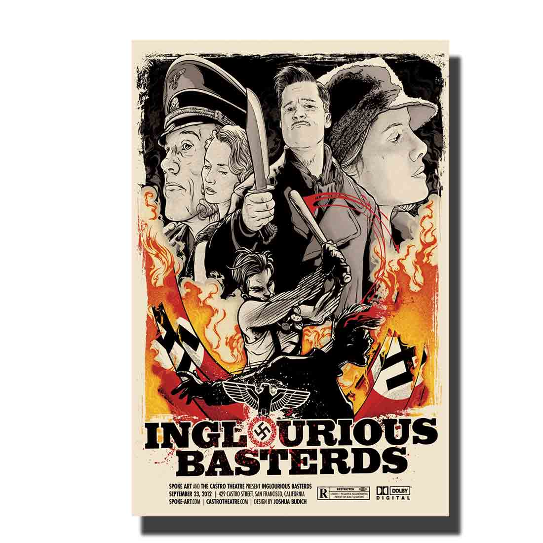 Art Poster Print Inglourious Basterds Quentin Tarantino Movie hot Home Wall decor8x12 12x18 24x36decor canvas image