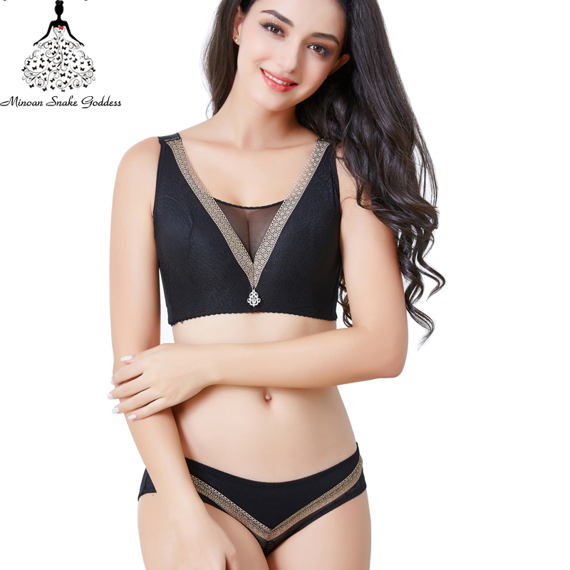 Sexy Lace Plus Size   Bra     Set   Underwear Women   Set   Lingerie Wire Free Underwear   Set   For Women Plus Size CD Cup 46 48 50 Itimates