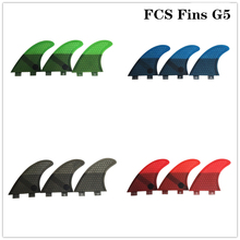 FCS G5 surf fins Free shipping Board Surf Fins Fibreglass Surfboard fcs 1 M size thruster fin
