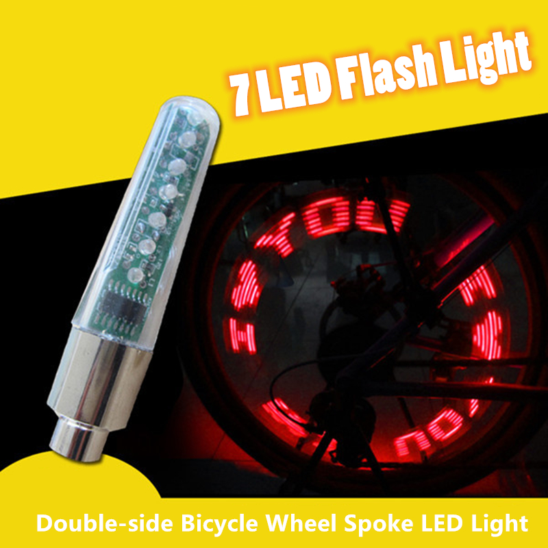 6x Bike Light Bicycle Cycling Spoke Wire Tire Tyre Silicone Leaf LED Wheel