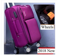 Oxford Spinner suitcases Travel Luggage Suitcase Men Travel Rolling luggage bags On Wheels Travel Wheeled Suitcase trolley bags(China)