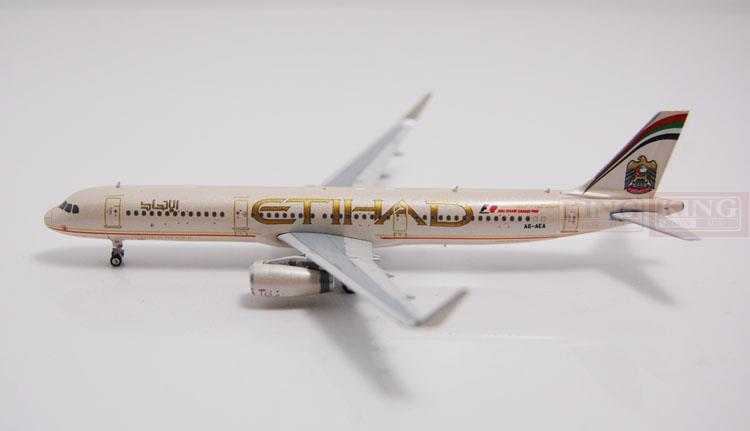 Phoenix 10983 Etihad Airways A321 A6-AEA shark fin winglets commercial jetliners plane model hobby