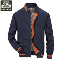 AFS JEEP Brand Mens Spring Jacket Army Military Men Bomber Jackets Windbreaker Jaqueta Masculina Slim Fit
