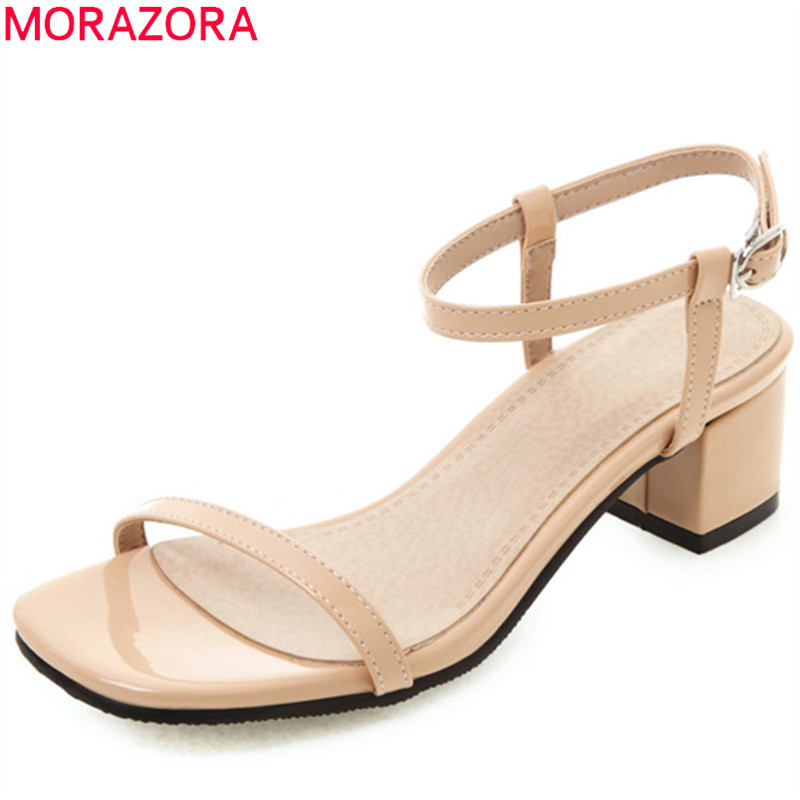 MORAZORA plus size 33-52 high heels sandals women shoes concise dress party wedding shoes ladies buckle summer women sandals MORAZORA plus size 33-52 high heels sandals women shoes concise dress party wedding shoes ladies buckle summer women sandals