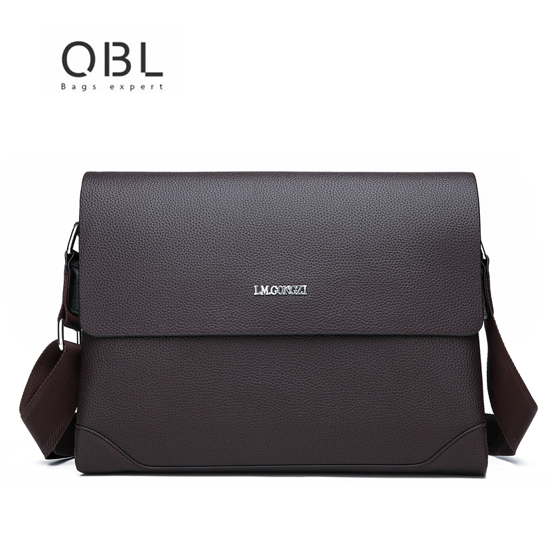QiBoLu 2018 Leather Messenger Bags Men Business Crossbody Flap Bag Bolsas Masculina Bandolera Bolso Cuero Genuino Hombre qibolu vintage large capacity handbags men shoulder tote bag for travel business sacoche homme bolso hombre bolsa masculina 6002