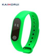 Kaimorui M2 смарт-браслет часы-пульсометр удаленного Bluetooth Smart Браслет Шагомер фитнес SmartBand напоминание